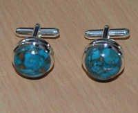 Turquoise Gemstone Men's Cufflinks