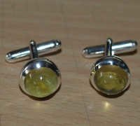 Bear Quartz Gemstone Men's Cufflinks