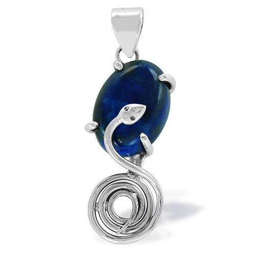 Lapis Lazuli Gemstone Silver Pendant