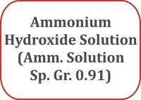 Ammonium Hydroxide Solution (Amm. Solution Sp. Gr. 0.91)