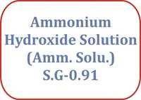 Ammonium Hydroxide Solution (Amm. Solu.) S.G-0.91
