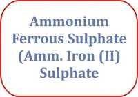 Ammonium Ferrous Sulphate (Amm. Iron (II) Sulphate