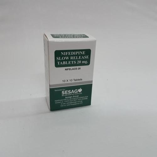Nifelace - 20 (Nifedipine slow release tablets )