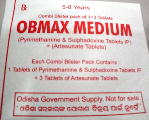 OBMAX MEDIUM Artesunate Tablets + Sulphadoxine & Pyrimethamine Tablets IP