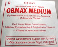 OBMAX MEDIUM Artesunate Tablets + Sulphadoxine & Pyrimethamine Tablets IP