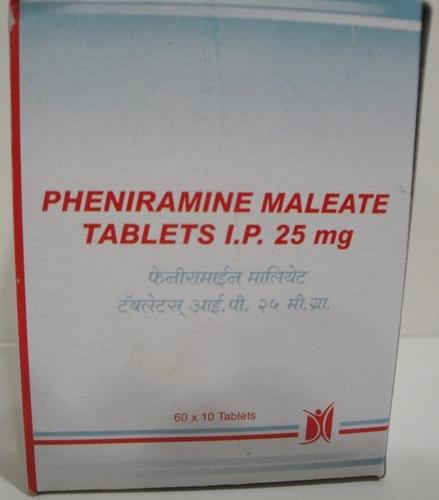 Pheniramine Maleate Tablets IP 25 mg