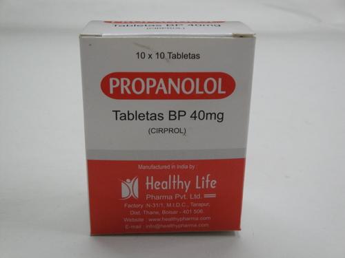 Propranolol Tablets BP 10 mg