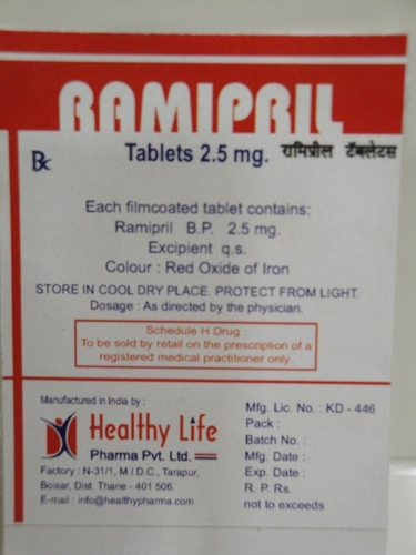 Ramipril tablets IP 5 mg
