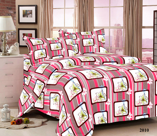 cotton bed sheet with pillow