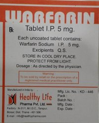 Warfarin Tablets  IP  5 mg