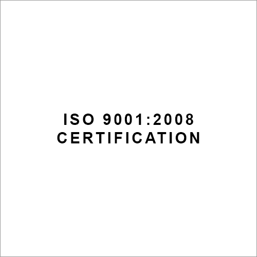 ISO 9001 - 2008 Certification