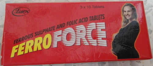 Ferro Force  (Folic Acid & Ferrous Sulphate Tablet)