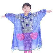 Kids Clear Pvc Raincoat (Bag)