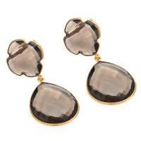 Smoky Topaz Gemstone Earring
