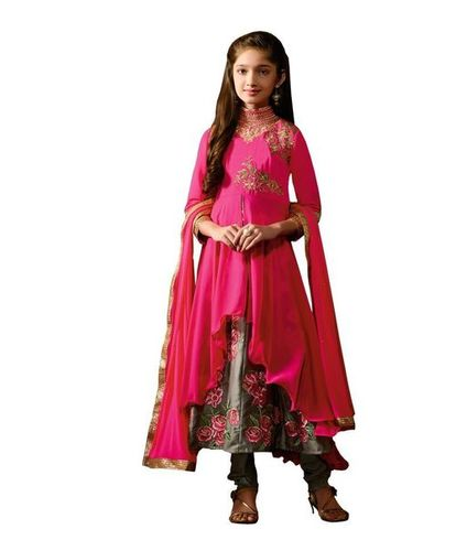 Pink Gerorgette Stylish Wedding Wear Dress