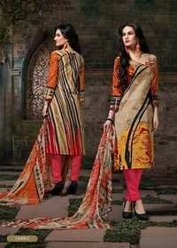 Multi Color Cotton Designer Salwar Suit