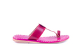 Pink Leather Slippers