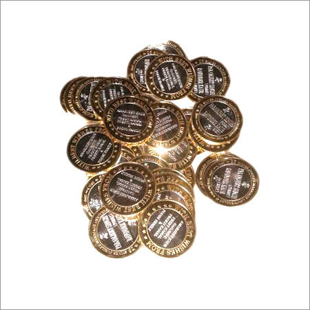 Gold Polished Silver Coins