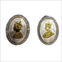 Oval Shaped Silver Coin