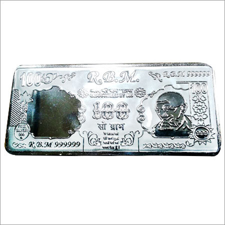 Square Shaped Silver Coin