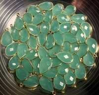 Aqua Chalcedony Gemstone Connector-Per Piece
