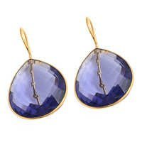 Water Sapphire Gemstone Earring