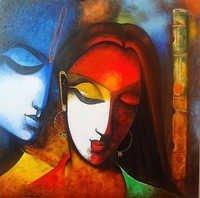 RDHA WITH KRISHAN Mural