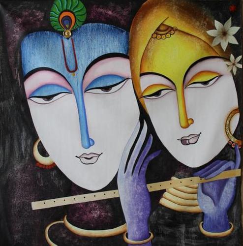 RADHA KRISHAN WITH MURLI Mural