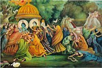 RADHA WITH KRISHAN DANCING MURAL