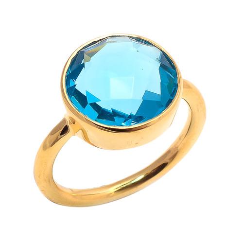 Blue Topaz Gemstone Ring