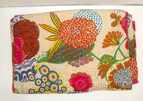 Kantha Quilt In Fabulous Design
