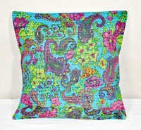 Indian Sari Cotton Kantha Pillow
