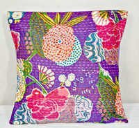 Indian Patchwork kantha Pillow