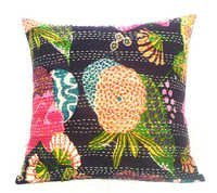 Kantha Flower Pillow Cover