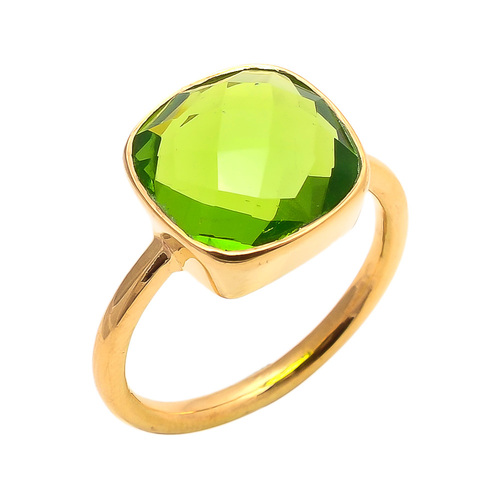 Peridot Quartz Gemstone Ring