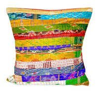 Silk Kantha Decorative Pillow cover