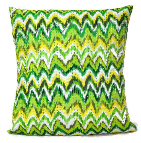 Green Kantha  Pillow Cover