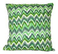 Green Kantha Cushion Cover
