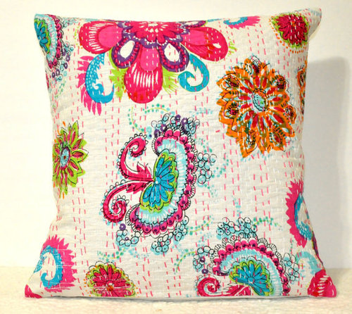 Floral Pillow Cushion Cover