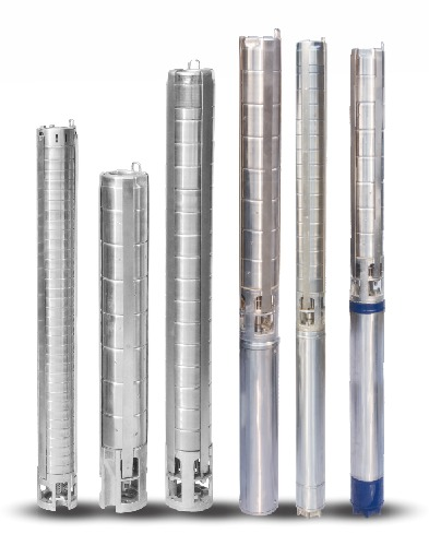 Stainless Steel V4 Borewell Submersible Pump Set