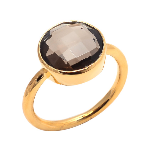 Smoky Topaz Gemstone Ring
