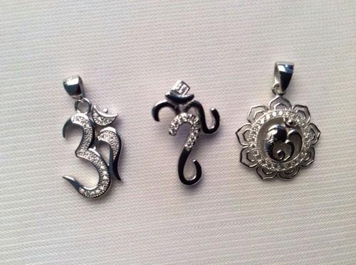 OM Silver Pendant
