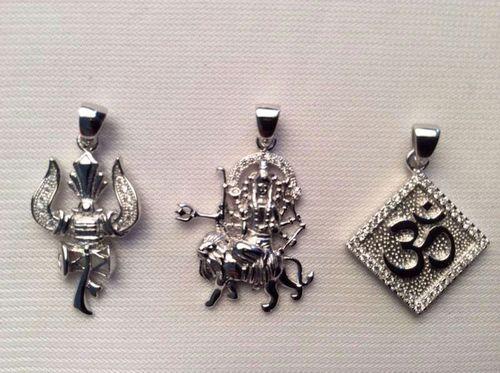 God Silver Pendant