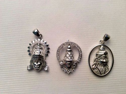 Mens Silver Pendant