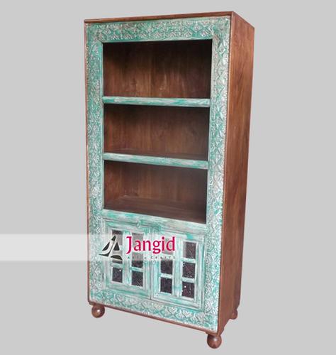 Wooden Multi Coloured Block Fitted Bookshelf