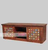 Indian Wooden Tile Fitted TV Cabinet