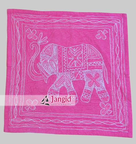Aari Cotton Elephant Cushion Cover