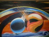 ABSTRACT BALL Mural