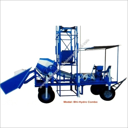 Portable Hydraulic Mixer with Tower Hoist