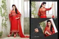 NEW DESIGNER HOT RED STRAIGHT SUIT